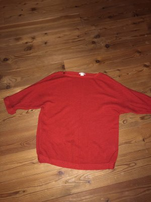 Roter Strick Pullover