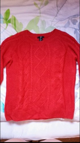 Roter Strickpulli H&M
