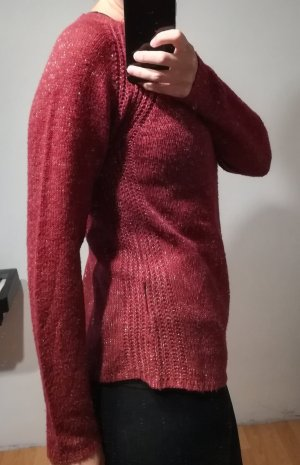 Colours of the World Knitted Sweater gold-colored-dark red