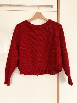 Roter Strickpullover von Zara