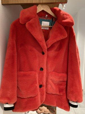 Sportalm Fake Fur Coat red
