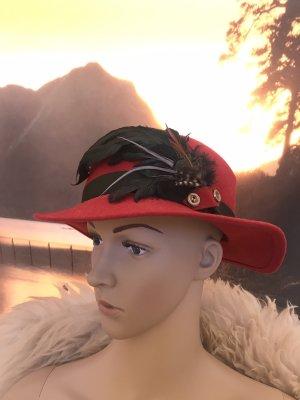 Handmade Folkloristische hoed veelkleurig Wol