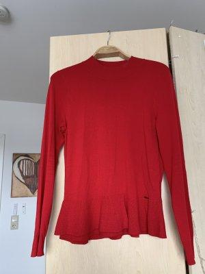 Roter Turtelneck Schößchen Pullover Pulli Taifun 38
