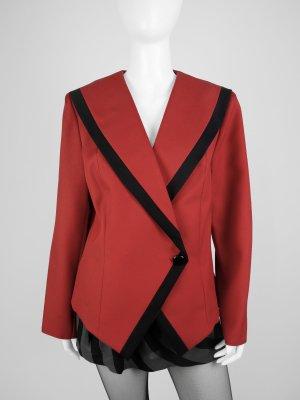 Roter Vintage Blazer mit unifarbigen Paspeln