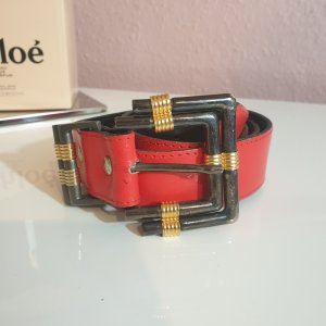 Ancora Faux Leather Belt red