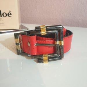 Ancora Cintura in ecopelle rosso