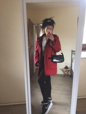 Roter Vintage Mantel Größe M fakefur
