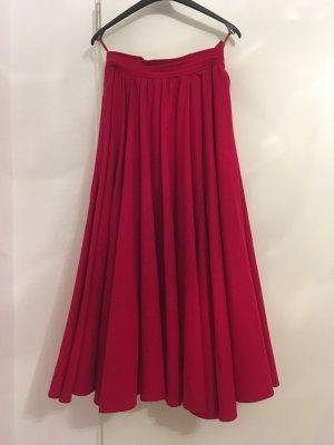 Admont Jupe en laine rouge brique-rouge foncé