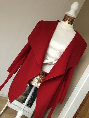 Wollen jas rood