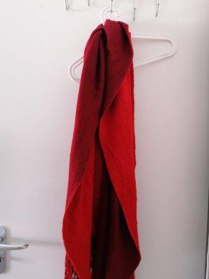 Zara Bufanda de flecos rojo-rojo oscuro