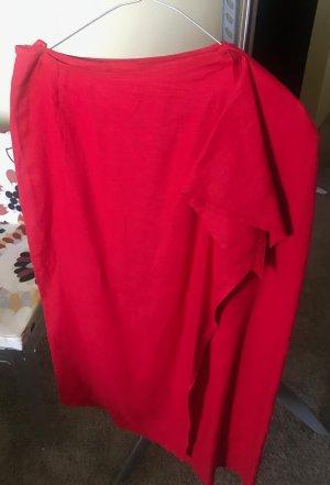 roter Wickelrock aus Leinen von di Bari
