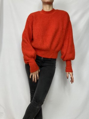 Roter Wollpulli
