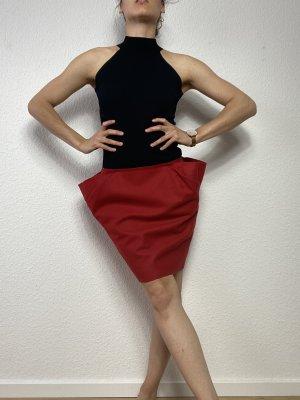 COS Wollen rok rood-baksteenrood