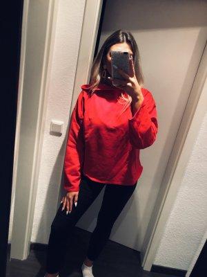 Zara Pull à capuche rouge-rouge brique