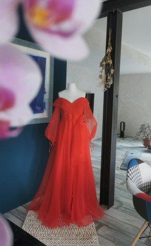 rotes Abendkleid Hennakleid Brautkleid