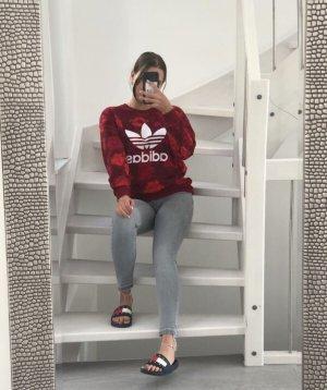 Adidas Sweatshirt rouge-noir