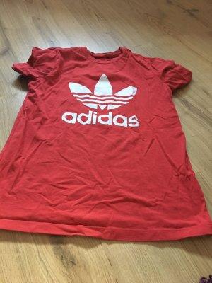 Adidas T-shirt bianco-rosso