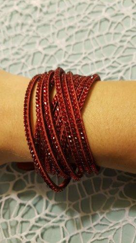 Armband donkerrood