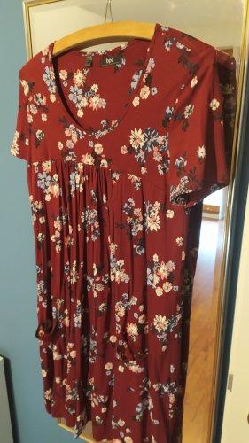 Rotes Blümchenkleid / Kleid von b.p.c. bonprix Collection in Größe 38