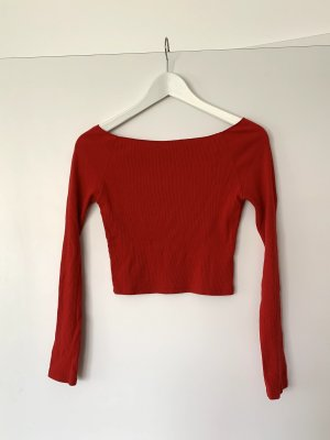 Brandy & Melville Off-The-Shoulder Top red