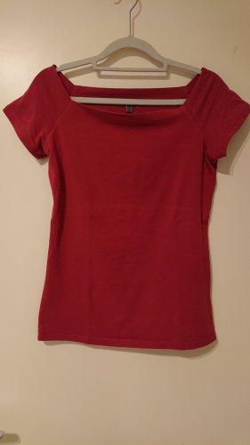 Street One Camisa tipo Carmen rojo ladrillo Algodón