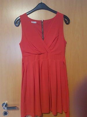Rotes Chiffonkleid Minikleid