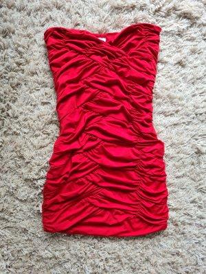 Vestido de tubo rojo-rojo ladrillo