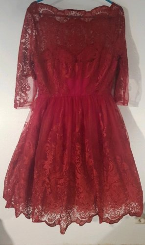 Chi Chi London Midi Dress red-dark red