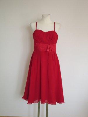 Szyfonowa sukienka czerwony Poliester
