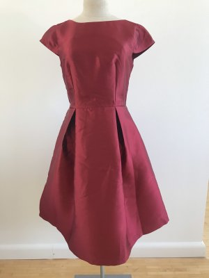 Rotes Cocktailkleid Kurzarm