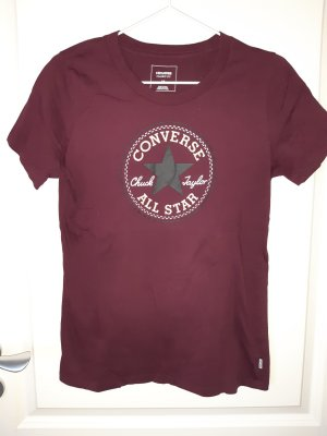 Converse T-shirt bordeau