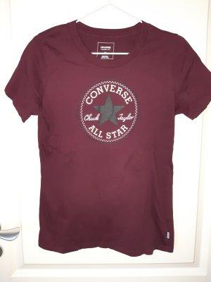 Converse T-shirt bordo