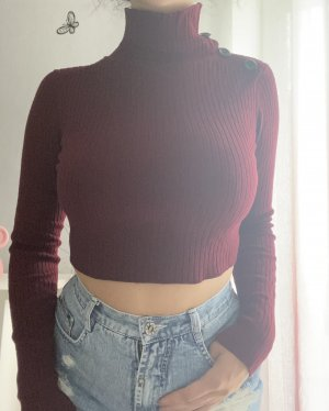 Rotes Cropped Oberteil