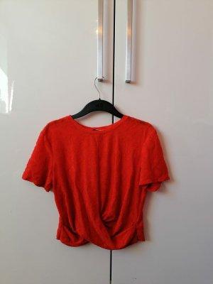 Rotes cropped Shirt