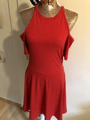 FB Sister Cut out jurk baksteenrood