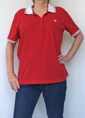 Gerry Weber Polo rosso-bianco Cotone