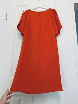 0039 Italy Chiffon jurk baksteenrood