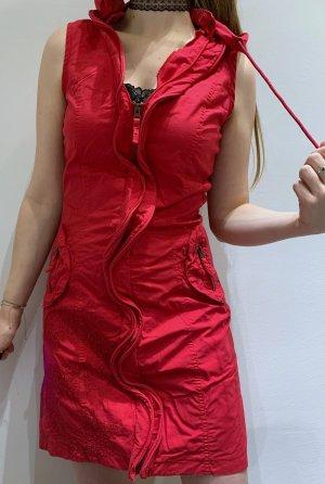 Rotes Desigual Kleid mit Kapuze