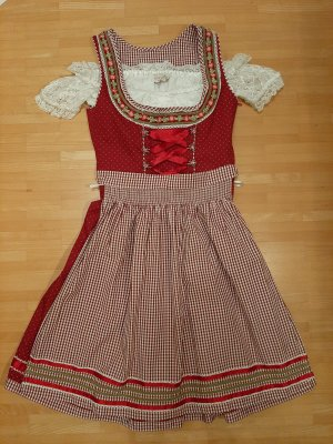 MarJo Dirndl white-dark red
