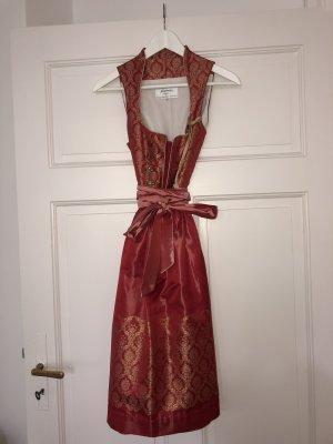 Angermaier Robe trapèze doré-rouge brique