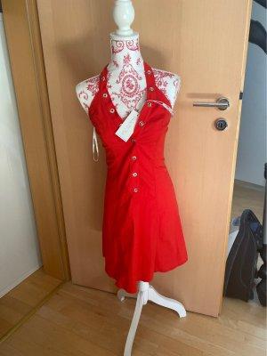-Rotes enganliegendes Sommerkleid