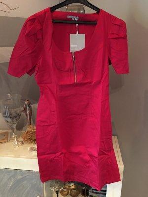3suisses Sukienka etui czerwony neonowy