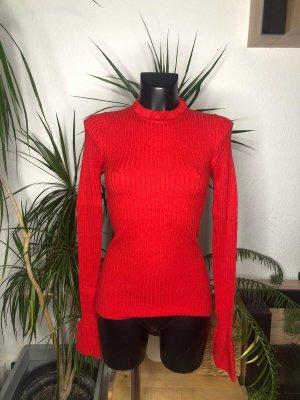 Rotes Feinstricktop von Gina Tricot