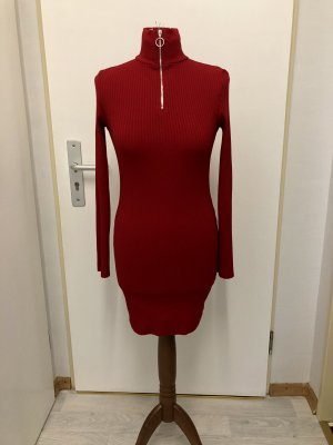 Rotes Geripptes Kleid Von Topshop