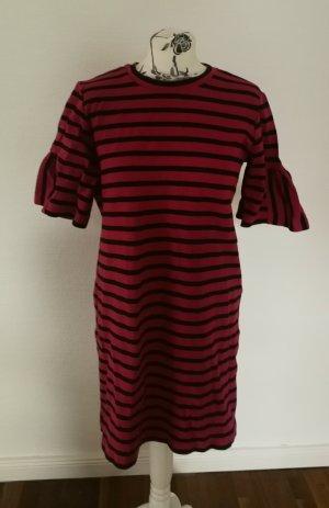 armedangels Mini-jurk zwart-rood