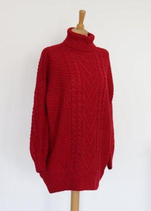 Abito di maglia rosso-rosso mattone