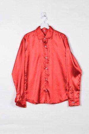 Rotes Hemd im Seidenlook XL