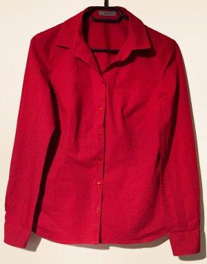 rotes Hemd mit Knöpfe, langärmlig, Gr. 36
