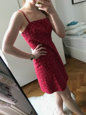 Hollister Robe trapèze rouge carmin coton