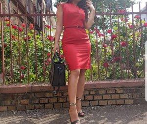 Rotes Hugo Boss Kleid